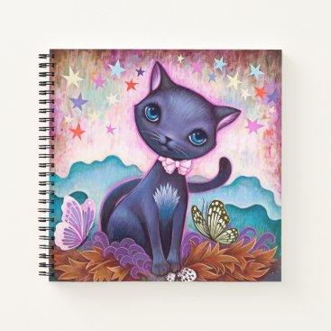Blue cat notebook