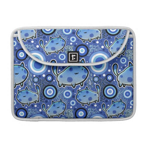 Blue Cat Pattern Sleeves For MacBook Pro