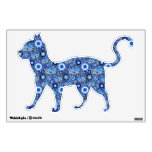 Blue Cat Pattern Wall Graphics