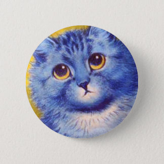 Blue Cat Pinback Button