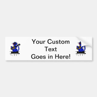 blue cat playing guitar and singing.png bumper sticker
