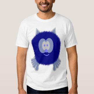 Blue Cat Pom Pom Pal T Shirt