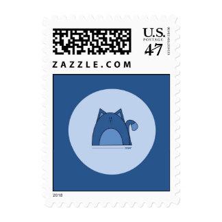 Blue Cat  Postage Stamps - Rawr Blue Cat Stamps