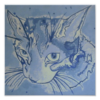 Blue Cat Poster