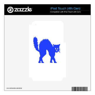 Blue Cat Skin For iPod Touch 4G