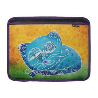Blue cat sleeve for MacBook air