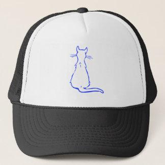 Blue Cat Trucker Hat