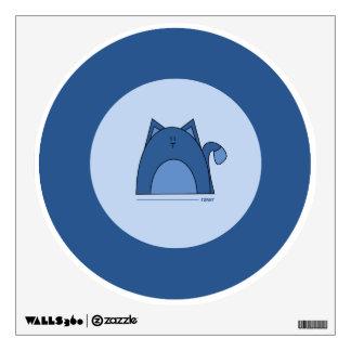 Blue Cat Wall Decal - Cute Blue Cat Decal