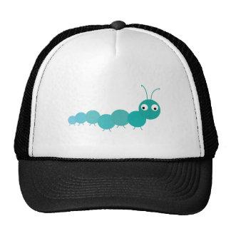 Blue Caterpillar Trucker Hat