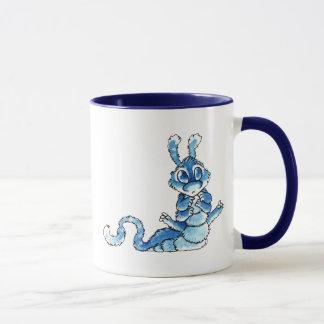 Blue Caterpillar Monster Mug