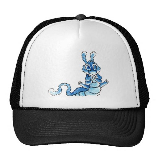 Blue Caterpillar Monster Trucker Hat