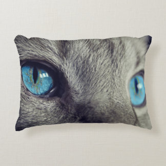 Blue Cat's Eyes Decorative Pillow