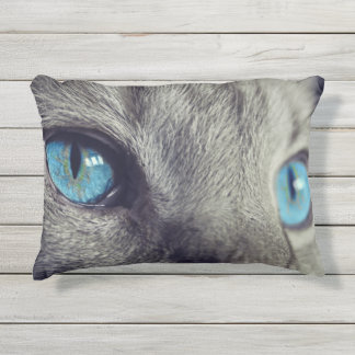 Blue Cat's Eyes Outdoor Pillow