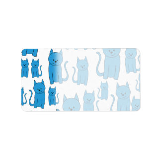 Blue Cats, Sitting. Label