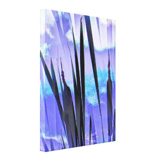 BLUE CATTAILS GALLERY WRAPPED CANVAS
