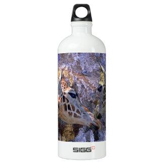 Blue Cave Giraffes Children's Fantasy Aluminum Water Bottle