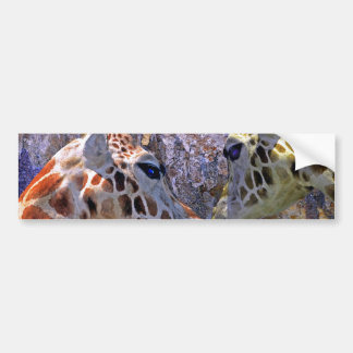 Blue Cave Giraffes Children's Fantasy Bumper Stickers