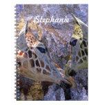 Blue Cave Giraffes Children's Fantasy Spiral Note Book