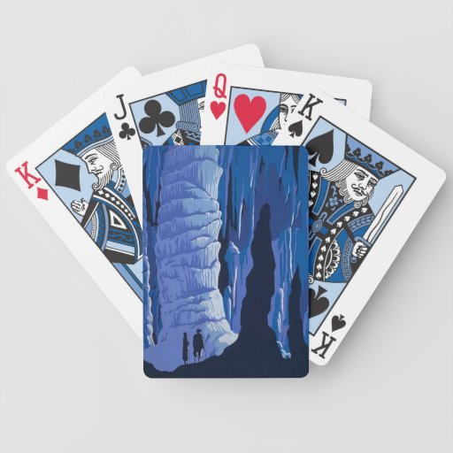 Blue Caves Bicycle Playing Cards