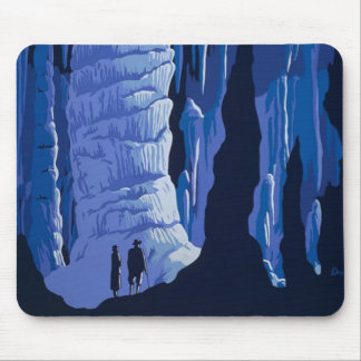 Blue Caves Mouse Pad
