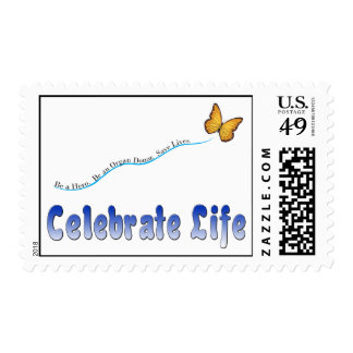Blue Celebrate Life Stamps