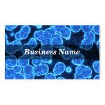 Blue Cells on Black Background Business Card