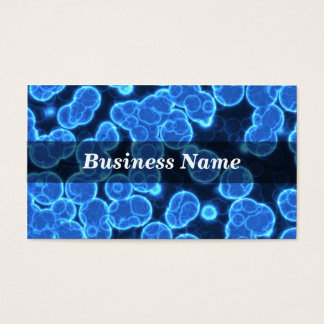Blue Cells on Black Background Business Card
