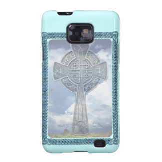 Blue Celtic Cross And Clouds Samsung Galaxy S2 Covers