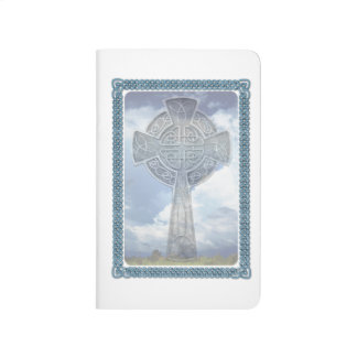 Blue Celtic Cross And Clouds Journal