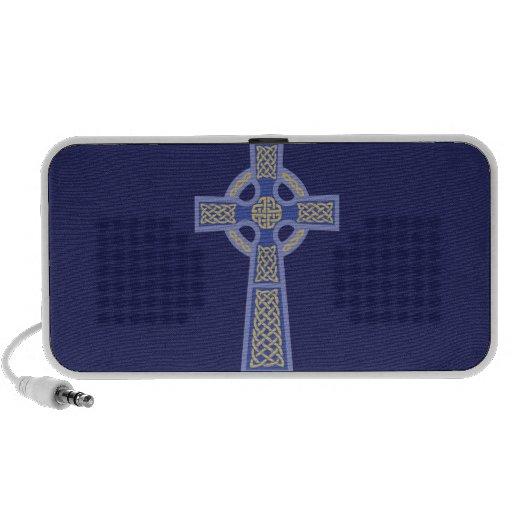 Blue Celtic Cross Doodle MP3 Speaker