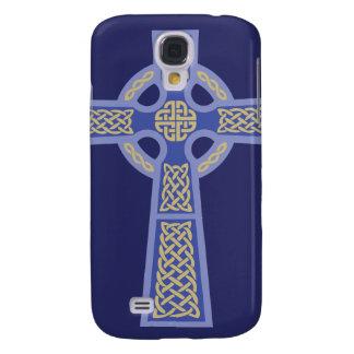 Blue Celtic Cross iPhone 3 Case