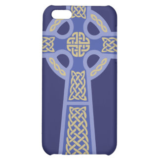 Blue Celtic Cross iPhone 4 Case