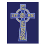 Blue Celtic Cross Postcards
