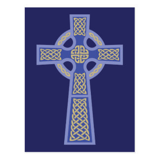 Blue Celtic Cross Postcards