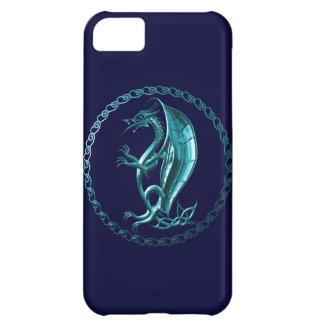Blue Celtic Dragon iPhone 5C Cases