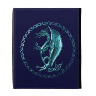 Blue Celtic Dragon iPad Folio Cases
