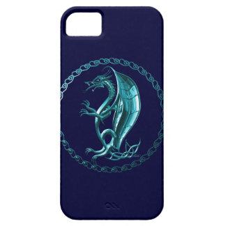Blue Celtic Dragon iPhone 5 Case