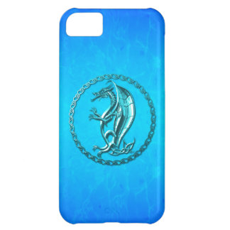 Blue Celtic Dragon Cover For iPhone 5C