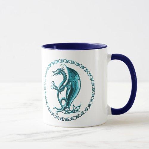 Blue Celtic Dragon Coffee Mug