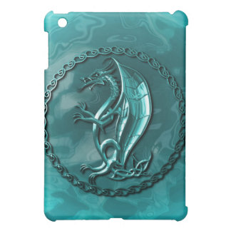 Blue Celtic Dragon iPad Mini Cover