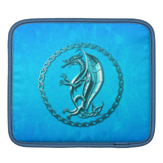 Blue Celtic Dragon Sleeves For iPads