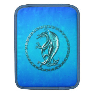 Blue Celtic Dragon Sleeve For iPads