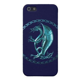 Blue Celtic Dragon iPhone 5 Cases