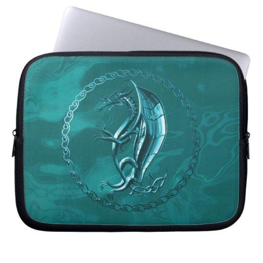 Blue Celtic Dragon Laptop Sleeve