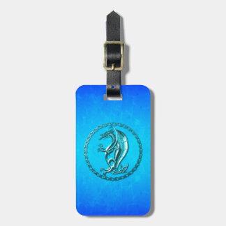 Blue Celtic Dragon Luggage Tags