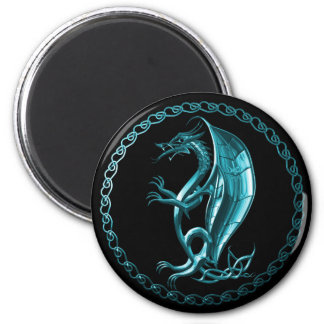 Blue Celtic Dragon Magnet