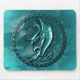 Blue Celtic Dragon Mousepad