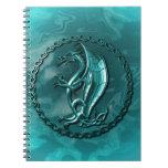 Blue Celtic Dragon Spiral Note Book