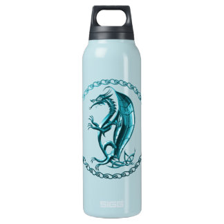 Blue Celtic Dragon Thermos Bottle