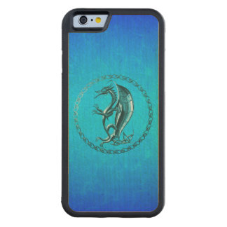 Blue Celtic Dragon Carved® Maple iPhone 6 Bumper